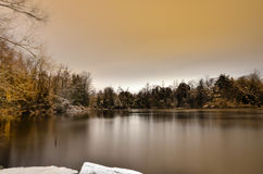 Ayr Pond, Ayr Ontario Royalty Free Stock Photography