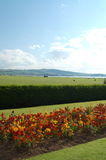 Ayr scotland landscape flowers and view. Ayr scotland landscape Royalty Free Stock Photo