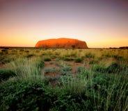 Ayres Rock Uluru. In Outback Australia Stock Photos