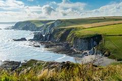 Ayrmer zatoczka Devon Anglia UK obrazy royalty free