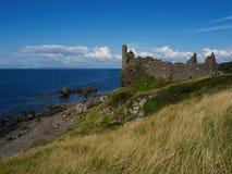 Ayrshire Шотландия замка Dunure южный Стоковое Фото