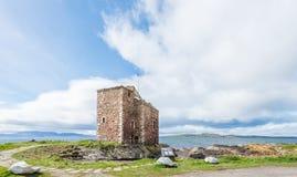 Ayrshire del nord di Seamill del castello di Portencross Immagine Stock