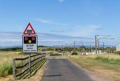 Ayrshire Scozia del passaggio a livello di Gailes fotografia stock libera da diritti