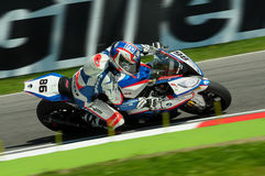 Ayrton Badovini BMW S1000 RR JR Racing Team Imola SBK 2015 Royalty Free Stock Photography