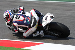 Ayrton Badovini BMW S1000 RR - BMW Motorrad. Ayrton Badovini rider BMW in the world Superbike Championship SBK Misano Stock Photo