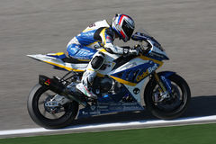 Ayrton Badovini BMW S1000 RR - BMW Motorsport Stock Photo