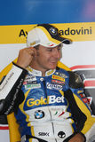 Ayrton Badovini BMW S1000 RR - BMW Motorsport Royalty Free Stock Photos
