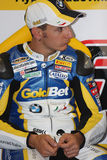 Ayrton Badovini BMW S1000 RR - BMW Motorsport Royalty Free Stock Photo