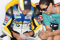 Ayrton Badovini BMW S1000 RR - BMW Motorsport Stock Image