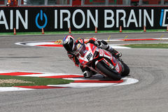 Ayrton Badovini #86 on Ducati 1199 Panigale R Team Ducati Alstare Superbike WSBK Royalty Free Stock Photography