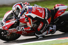 Ayrton Badovini #86 on Ducati 1199 Panigale R Team Ducati Alstare Superbike WSBK Stock Photo