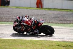 Ayrton Badovini #86 on Ducati 1199 Panigale R Team Ducati Alstare Superbike WSBK royalty free stock photo