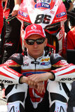 Ayrton Badovini #86 on Ducati 1199 Panigale R Team Ducati Alstare Superbike WSBK Stock Images