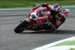 Ayrton Badovini #86 en Ducati Panigale 1199 R Team Ducati Alstare Superbike WSBK Foto de archivo