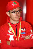 Ayrton Badovini #86 på Ducati Panigale 1199 R Team Ducati Alstare Superbike WSBK Royaltyfri Bild