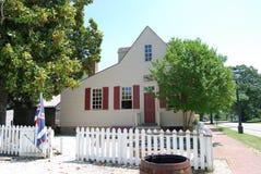 Ayscough hus på koloniinvånaren Williamsburg Arkivbild