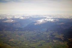 Aysen Region, Patagonia, Chile. Arieal view of the Aysen Region in Patagonia, Chile royalty free stock photos