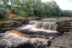 aysgarth faller vattenfallet Royaltyfri Fotografi