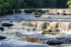 Waterfall in the Yorkshire Dales, UK royalty free stock image