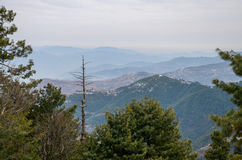 Ayubia国家公园和周围的山,伊斯兰堡,巴基斯坦 库存图片