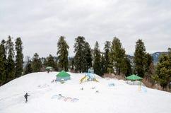 Ayubia国家公园,伊斯兰堡,巴基斯坦山顶视图 库存照片