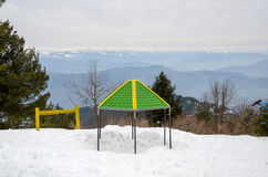 Ayubia国家公园,伊斯兰堡,巴基斯坦山顶视图 免版税库存照片