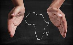 Ayuda África foto de archivo libre de regalías