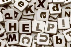 ¡Ayuda! Imágenes de archivo libres de regalías