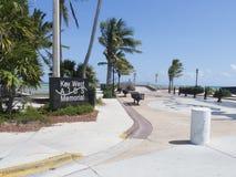 AYUDA al monumento, Key West foto de archivo