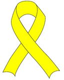 Ayuda amarilla la cinta de las tropas Imagen de archivo