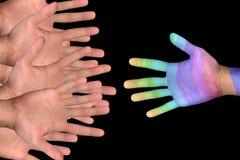 Ayuda colorida imágenes de archivo libres de regalías