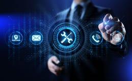 Ayuda 24 concepto de la tecnolog?a del negocio de la garant?a de calidad de 7 servicios de atenci?n al cliente ilustración del vector