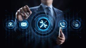 Ayuda 24 concepto de la tecnolog?a del negocio de la garant?a de calidad de 7 servicios de atenci?n al cliente stock de ilustración