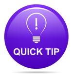 Ayuda de botón de la extremidad rápida y concepto púrpuras de la sugerencia ilustración del vector