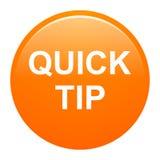 Ayuda de botón de la extremidad rápida y concepto redondos anaranjados de la sugerencia ilustración del vector
