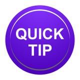 Ayuda de botón de la extremidad rápida y concepto redondos púrpuras de la sugerencia ilustración del vector