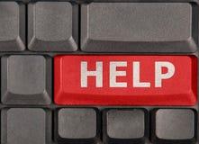 Ayuda de botón rojo Fotos de archivo
