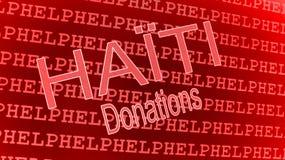 Ayuda de Haití - donaciones Fotos de archivo libres de regalías