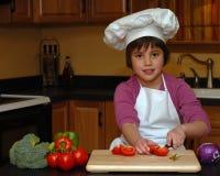 Ayuda de la cocina Fotografía de archivo