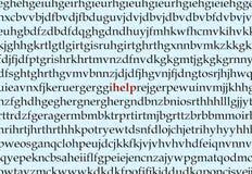 Ayuda de la dislexia Imagen de archivo libre de regalías