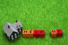 Ayuda de la hipoteca Imagen de archivo libre de regalías