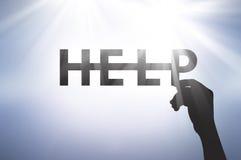 Ayuda de la llamada cuando necesitamos la ayuda Fotos de archivo libres de regalías