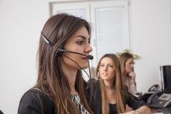 Ayuda del centro de atención telefónica Imagen de archivo libre de regalías