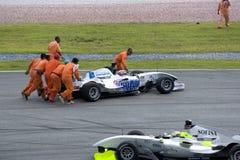 Ayuda del coche de carreras de A1GP Fotos de archivo