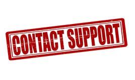 Ayuda del contacto stock de ilustración