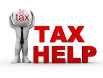ayuda del impuesto del hombre 3d Foto de archivo libre de regalías