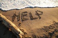 Ayuda del mensaje Imagen de archivo libre de regalías