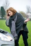 Ayuda del servicio de atención al cliente del automóvil Imagen de archivo