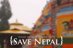 Ayuda del terremoto 2015 de Nepal Imágenes de archivo libres de regalías