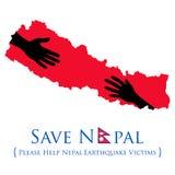 Ayuda del terremoto 2015 de Nepal Foto de archivo